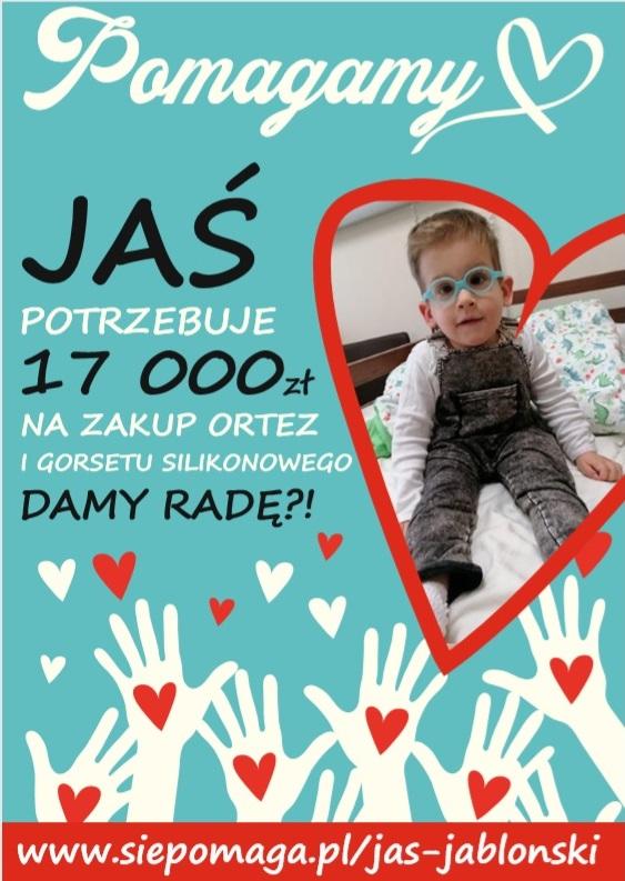 plakat z wizerunkiem Jasia Jabłońskiego